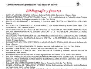 Bibliografía y fuentes de Los Peces en Bolivia