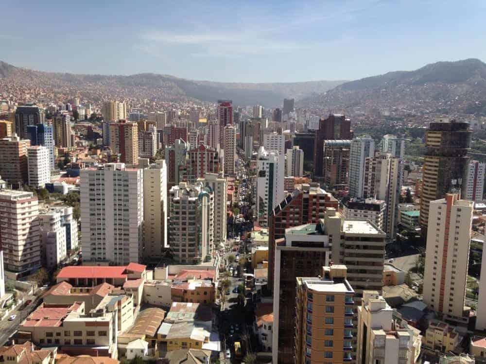 Centro de la ciudad de La Paz.