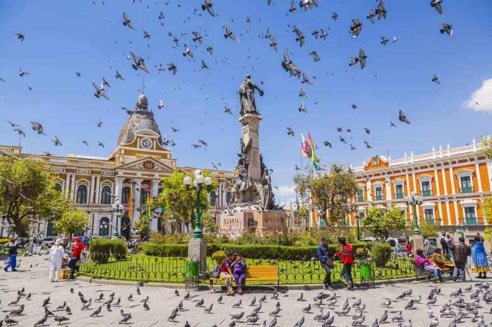 Plaza Murillo. Centro del Gobierno.