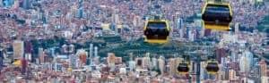 El teleférico de transporte público de la ciudad de La Paz con más de 427 cabinas es el teleférico urbano más extenso del mundo e ingreso al libro de los Record Guinness 2018.
