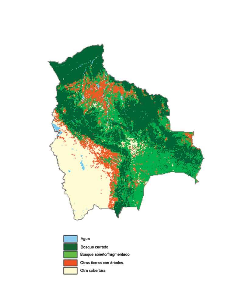 MAPA BOSQUES DE BOLIVIA