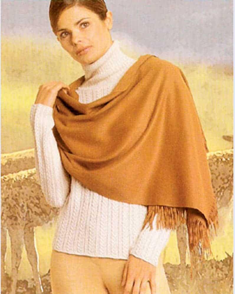 Prendas de vestir de vicuña de alta moda internacional.