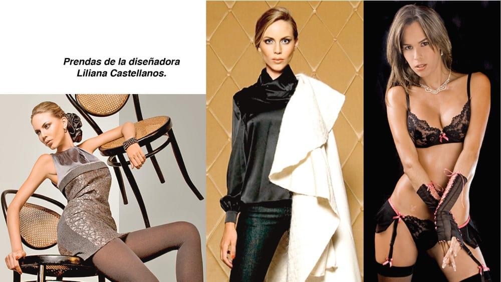 Prendas de la diseñadora Liliana Castellanos.